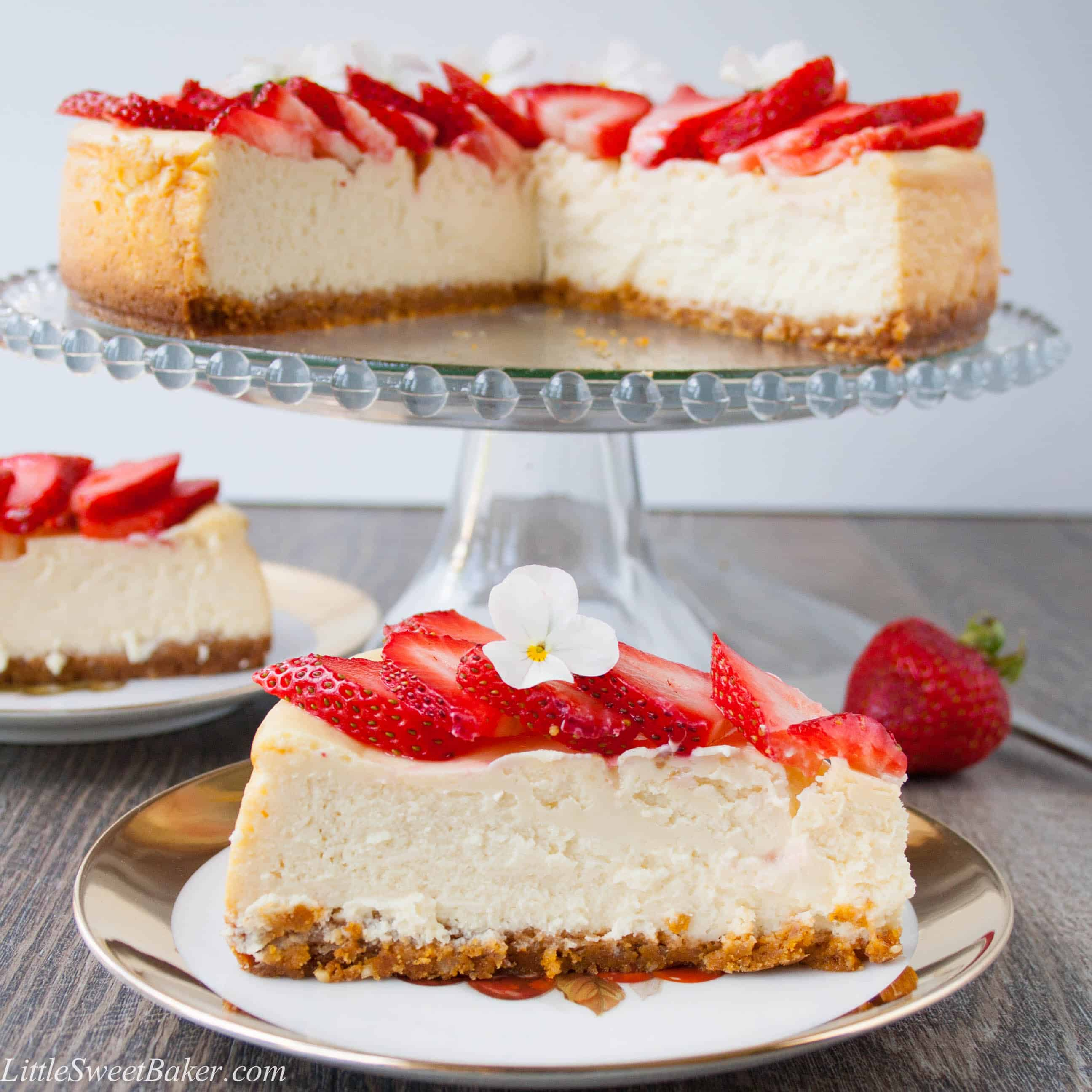 White Chocolate Cheesecake Little Sweet Baker