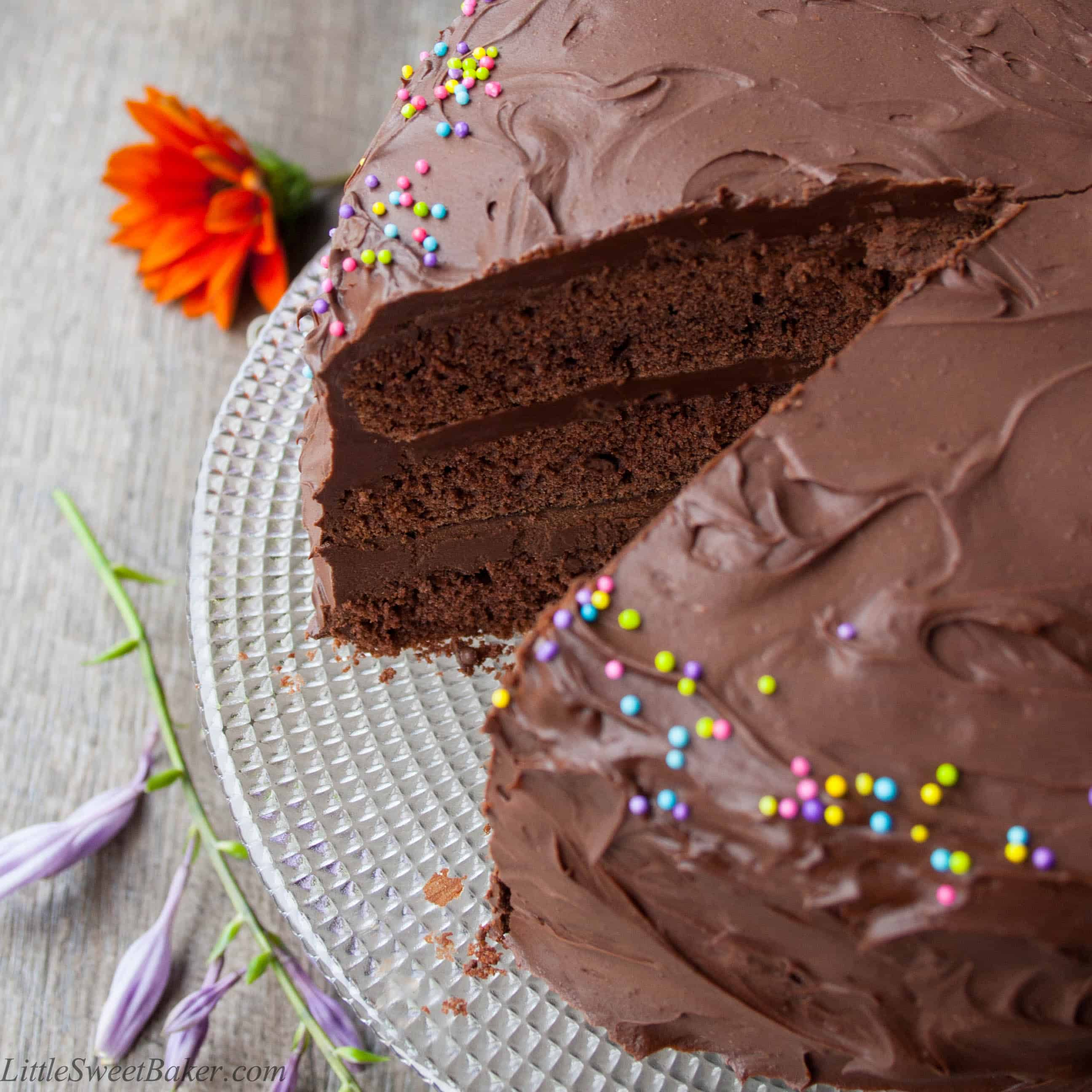 CHOCOLATE BIRTHDAY CAKE A Decadent 3 Layer Chocolate Cake Surrounded With The Most Luxurious