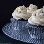DARK CHOCOLATE CUPCAKES WITH WHITE CHOCOLATE BUTTERCREAM. A light and fluffy, bold dark chocolate cupcake with a creamy luscious white chocolate buttercream.
