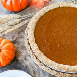 SUPER EASY PUMPKIN PIE RECIPE. Just 4-ingredients to make this traditional pumpkin pie. This has been a family favorite for many years!