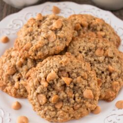 BUTTERSCOTCH OATMEAL COOKIES. This is a hearty, soft and chewy cookie that is loaded with sweet flavorful butterscotch chips.