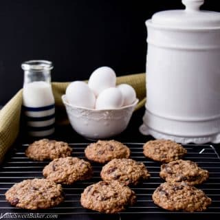 These soft and chewy cookies are loaded with plump raisins and hearty rolled oats. They are buttery and have a hint of cinnamon spice. Your whole family will love this homemade classic cookie recipe.
