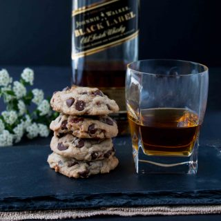 The rich deep bittersweet caramel aroma of the bourbon with the subtle smoky salty flavor from the bacon takes your everyday chocolate chip cookies from ordinary to extraordinary.