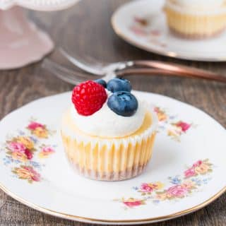 A smooth, creamy, and tangy cheesecake baked on top of a buttery graham cracker crust. These delicious little beauties prove that good things come in small packages. Just 6 ingredients and 20 mins bake time. See how easy it is to make mini cheesecakes in this video recipe.