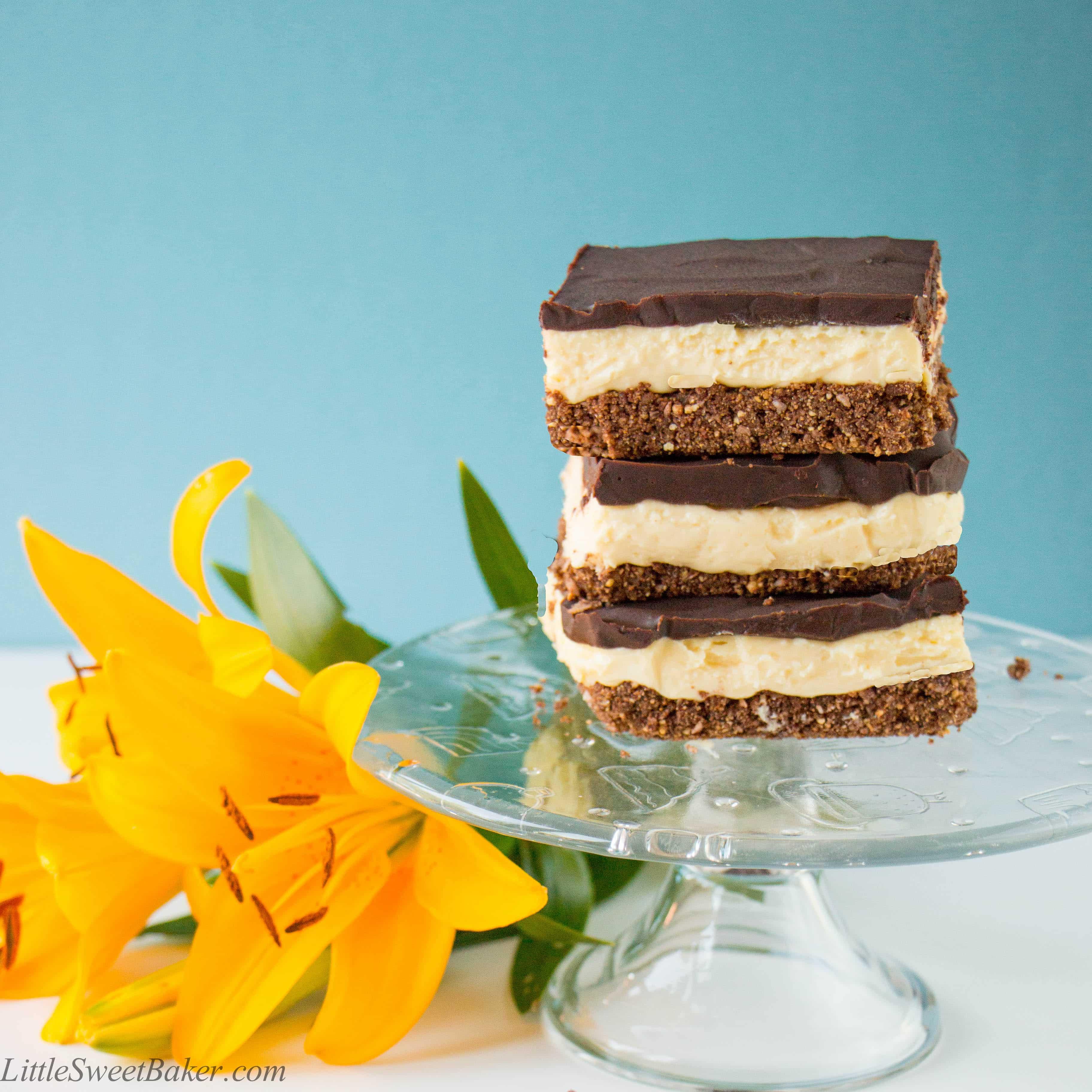Nanaimo Cheesecake Bars (video) - Little Sweet Baker