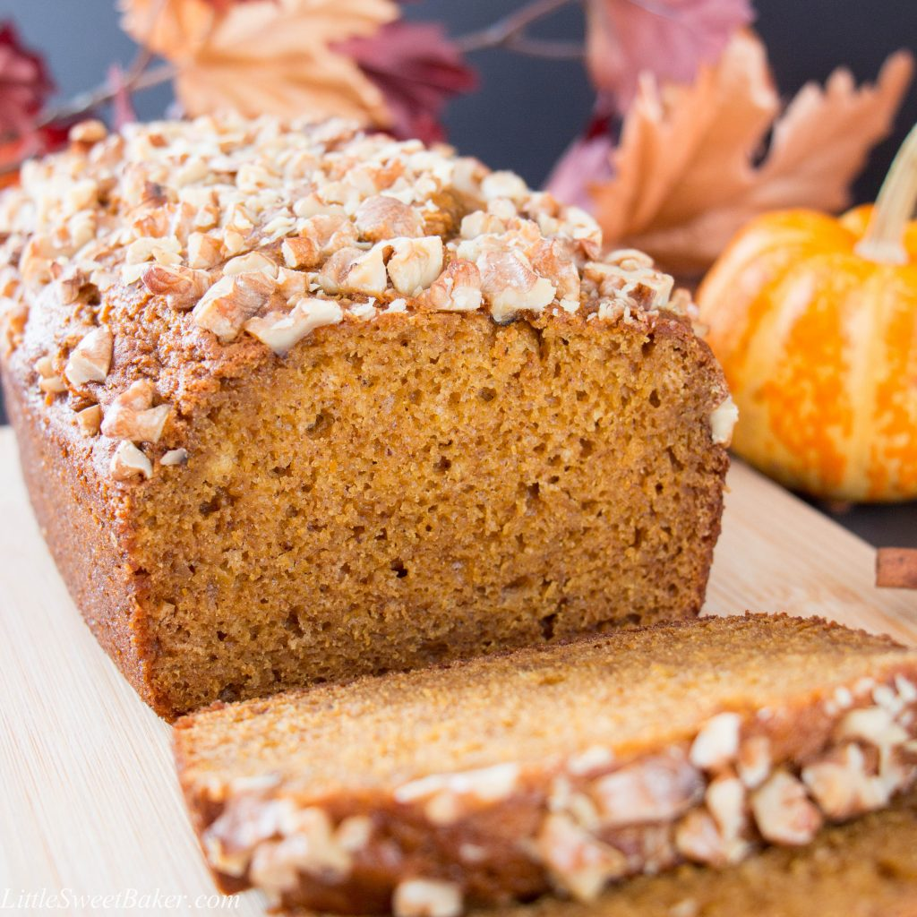 Soft, moist, flavorful and full of spice. See how easy it is to make this delicious homemade pumpkin bread. (video recipe)