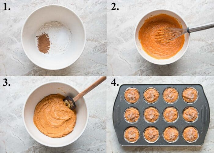 pictures of how to make pumpkin muffins