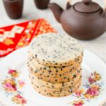 Rich and buttery shortbread with toasty black sesame seeds makes these cookies absolutely sensational!
