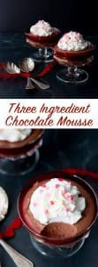 This sweet and chocolatey, light-as-air chocolate mousse is made with only 3 ingredients. This recipe is interestingly made with marshmallows instead of eggs for more flavor, sweetness and fluffy texture. #chocolatemousse #valentinesdessert #easychocolatemousse #bestchocolatemousse