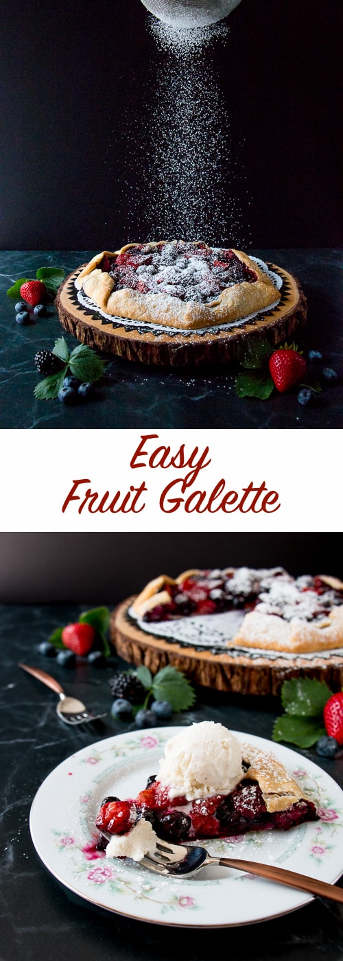 Enjoy your favorite seasonal fruits with this uber-easy galette recipe. You can whip this up in a matter of minutes for any occasion.
