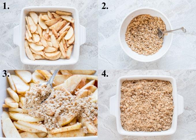 how to make easy apple crisp in 4 steps