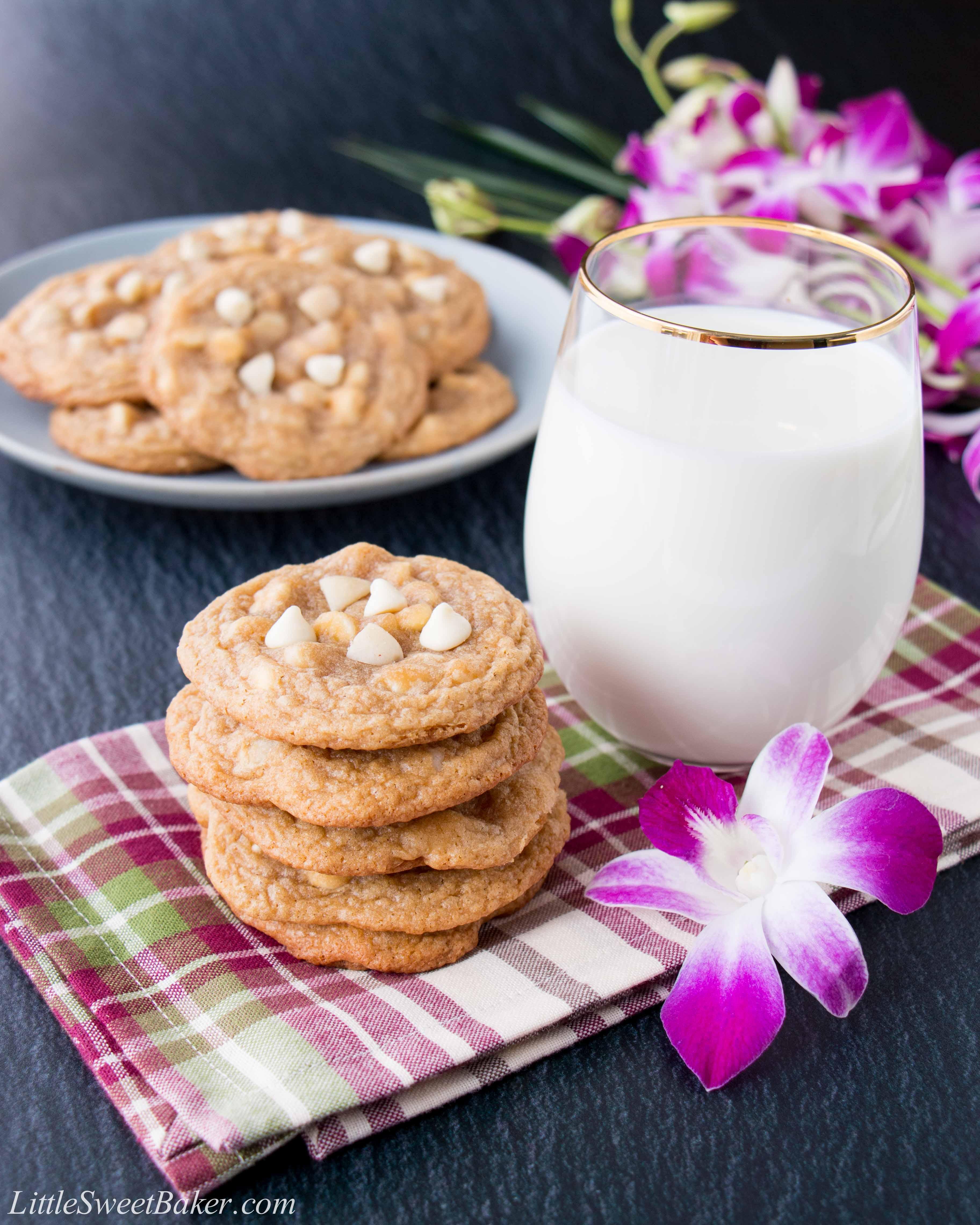 White chocolate macadamia nut cookies little sweet baker for White chocolate macadamia nut cookies recipe paula deen