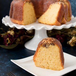 This Bacardi rum cake is famous for it's flavor and supreme moistness. Easy to make and popular since the 1970s for a reason. #Bacardi #rumcake #Christmascake #recipe