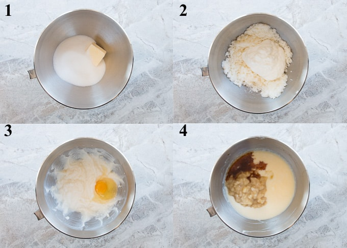 how to make banana cake steps 1-4