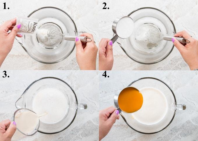 how to make mango pudding steps 1-4