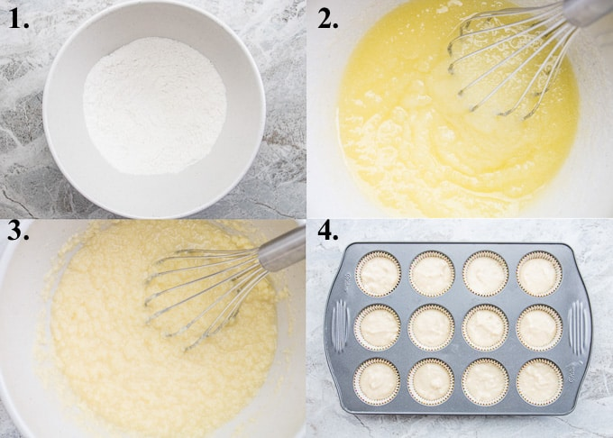 how to make mango cupcakes steps 1-4