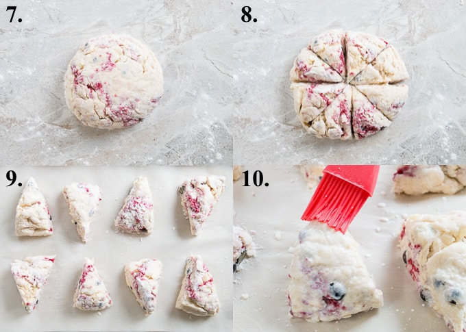 how to make scones steps 7-10