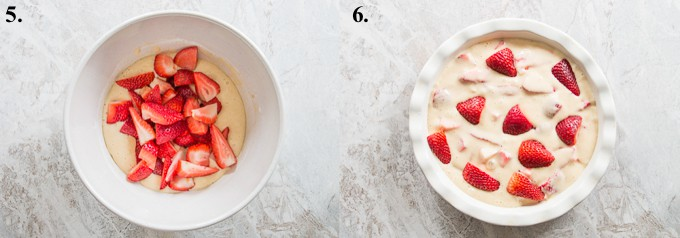 how to make fresh strawberry cake steps 5-6