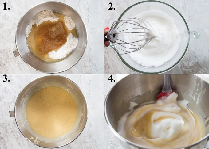 How to make chiffon cake steps 1-4