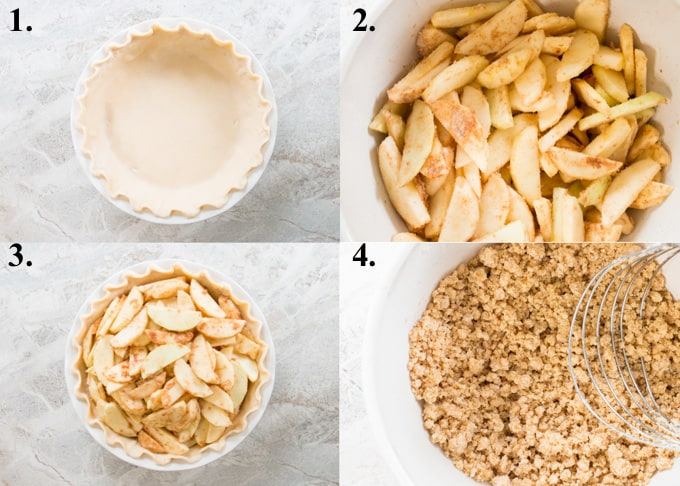 how to make Dutch apple pie steps 1-4