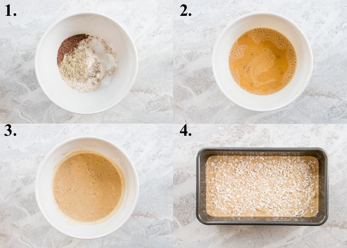 Pictures of how to make quick brown bread.