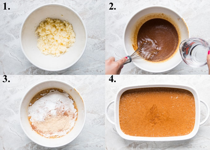 how to make gingerbread cake in 4 steps