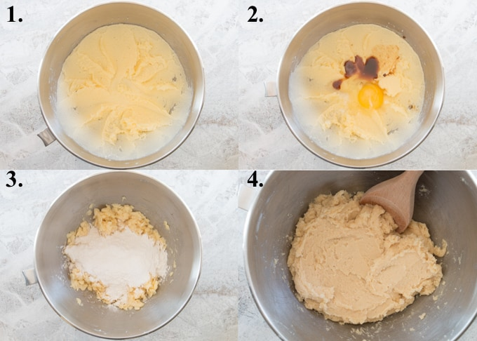 step by step pictures of how to make butter cookies