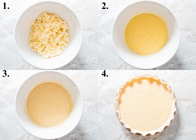 process pictures of how to make buttermilk pie