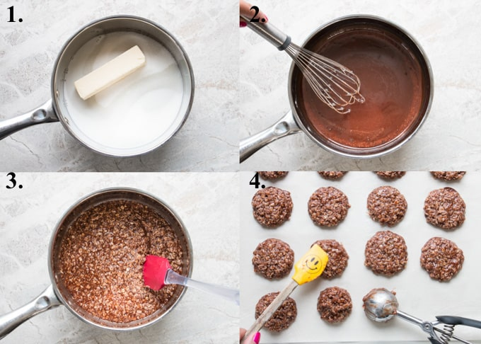 pictures of how to make no-bake cookies