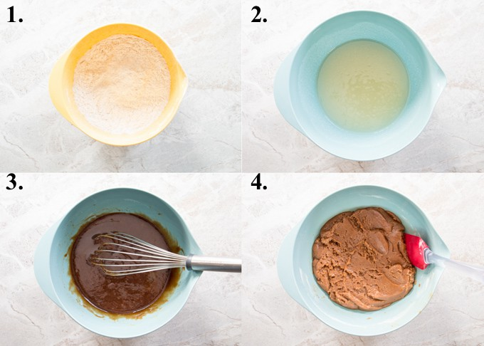 picture collage of how to make ginger snap cookies