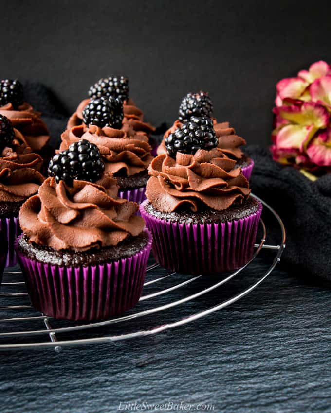 Easy Moist Chocolate Cupcakes Little Sweet Baker