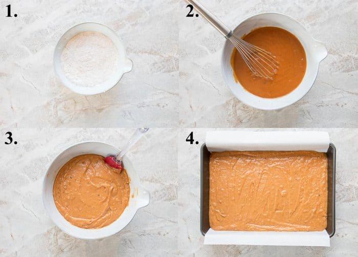 how to make pumpkin bars process shots
