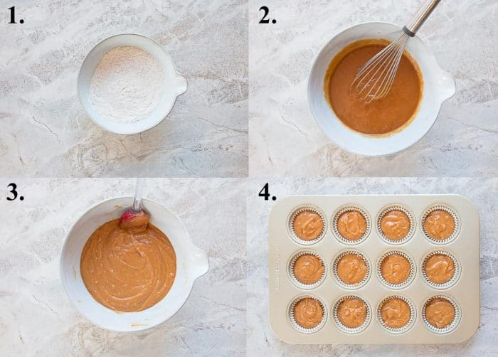 pictures of how to make pumpkin cupcakes